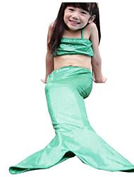 Baby Kids Mermaid Tail Girls Bikini Bathing Mermaid Swimsuit Gift Beach Swim Wear 3 Colors Swimwear (Nylon/Polyester)
