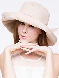 Women Cute/Casual Summer Cotton Blend Floppy Hat