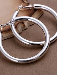 Feiku Women's Korean-style High Quality Silver-plated Hoop Earrings