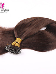 100g/lot Stock Dark Brown #2 Mongolian Remy Nano Tip Hair Extensions 18 inch Nano Bead Hair Extensions 100gram NEW!!!