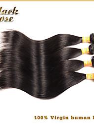 Brazilian Virgin Hair Straight 3pcs Human hair Weave Black Rose Hair Products Unprocessed Virgin Brazilian Straight Hair