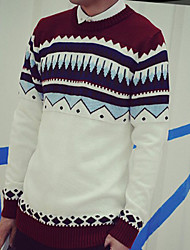 Pullover ( Baumwolle ) Lang Lang - Herren