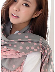Colorful  Gradient Dot Voile Scarf For Lady