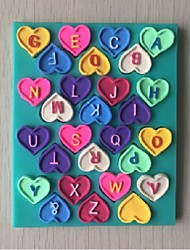 Love Letters Shaped Fondant Cake Chocolate Silicone Mold, Decoration Tools Bakeware