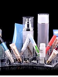 le ventilateur et boîtes de cosmétiques acryliques transparents