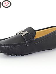 Zapatos de Hombre Exterior/Oficina y Trabajo/Vestido/Casual/Deporte/Fiesta y Noche Ante Mocasines Negro