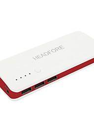 headfore 10000mAh Power Bank Внешний аккумулятор для Apple, Samsung смартфонов и любой USB