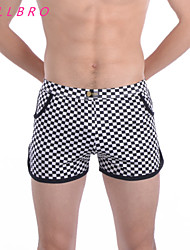 Men Underwear Plaid Arrow Shorts Boxers Casual Homewear Brand New Male Sexy Underpants China size M L XL