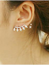 Boucle Boucles d'oreille goutte Bijoux 2pcs Alliage / Zircon Femme Argent