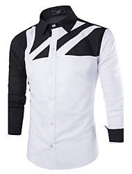 Men's Casual Striped Long Sleeve Regular Shirt