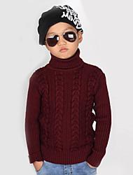 Pull & Cardigan Boy Couleur Pleine Hiver / Printemps / Automne Coton / Tricots