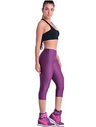 Women Cotton/Others Thin Solid Color Legging Candy Color Fitness Workout Capris