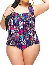 Bikinis Aux femmes Franges Push-up Licou Nylon/Polyester