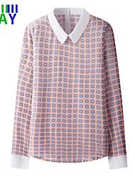 ZAY Women's Spring New Shirt Collar Long Sleeve Chiffon Fresh Shirt