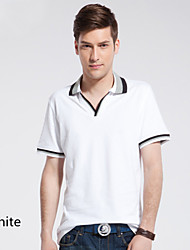 New summer men's short sleeve T-shirt Collar Shirt Youth Polo simple small