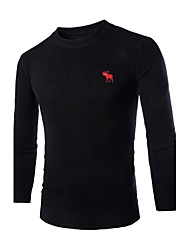 Men's Pure Pullover , Knitwear Long Sleeve