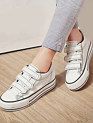 Women's Shoes Canvas Platform //Round  Fashion Sneakers/Loafers Casual Black/Light Blue/White/Dark Blue