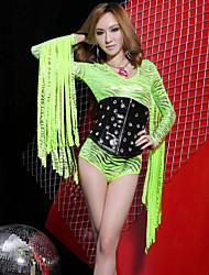 Malha/Cinto ( Verde/Vermelho , Fibra de Leite , Salão de Baile ) - de Salão de Baile - Mulheres
