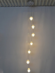 LED Crystal Pendant Lamps Ceiling Chandeliers Lights Lamp Lighting with 7 Bulbs Ac100 to 240 LED G4 Source CE UL