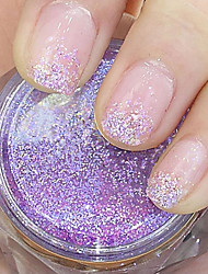 Purple Glitter Powder Nail Art Decorations