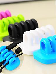 organisateur câbles cordons diviseur cordons USB de bureau (couleurs aléatoires)