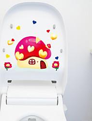 aimer champignons toilette autocollants