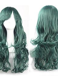 Harajuku Wavy Dark Green Pelucas Sex Synthetic Lolita Anime Wig Cheap Cosplay Hair Wigs Long Curly For Women wigs