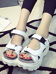 Sakura Women's Shoes Silver/White Platform 3-6cm Sandals