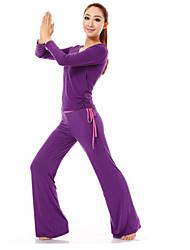 baotao ® trajes de yoga para las mujeres 100% algodón BT70
