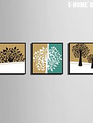 Tree Art Paintings Framed Canvas Juego de 3