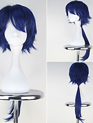Holarula Live Men's Long Straight Synthetic Dark Blue Color Anime Cosplay Wig