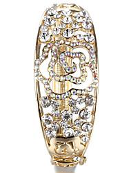 Sjeweler Lady's Crystal 24k Gold Bracelet Bangle