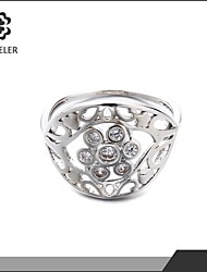 Sjeweler Girls Latest 18K Gold Plated Zircon Wedding Ring