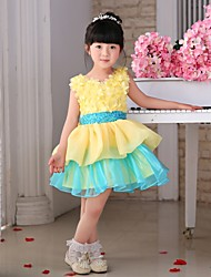 Princess Knee-length Flower Girl Dress - Tulle Sleeveless