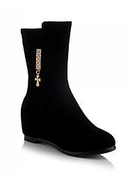 Calçados Femininos Sintético Salto Baixo Botas da Moda Botas Escritório & Trabalho/Social/Casual Preto