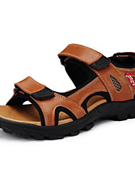 Men's Shoes Outdoor/Athletic/Casual Leather Sandals Black/Brown