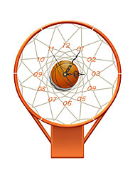 Modern/Contemporary Houses 3D Wall Basketball Stands Indoor Clock Home Furnishing Bedroom