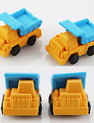 1 Pcs Cartoon Truck Dumpers DIY Rubber Eraser School Student Children Prizes Gift Promotion Assemble Toy