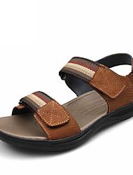 Chaussures Hommes - Décontracté - Marron - Cuir - Sandales