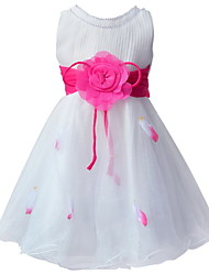 Baby Girls Party Wear Dress 2016 Summer Sleeveless Lace Princess Wedding Dress Kids Floral Birthday/Evening Party Dress