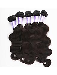 """3pcs / lot 8 """"-34"""" cabelo virgem onda do corpo cabelo brasileiro de trama não transformados brasileiro virgem do weave do cabelo humano"""