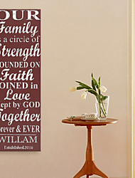 Personalized E-HOME® Canvas Print Signature Our family Design Canvas 30x 90cm