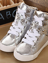 Boys' Shoes Casual Synthetic/Fabric Fashion Sneakers Silver/Gold