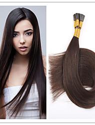 hochwertige Frisch vorverfestigten brasilianische Menschenhaarverlängerungen i Stick Haarverlängerungen 1 g / s 100g / pc 1pc / lot auf