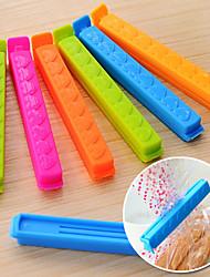 alimentaire clips avec amour-coeur sac d'impression clips fixés de 7 cuisine d'étanchéité d'étanchéité (couleur aléatoire)