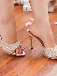 Women's Shoes Gold/Silver Stiletto Heel Pumps/Heels (Rubber)