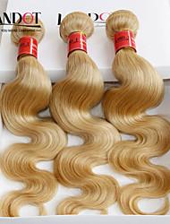 """4pcs lote 14 """"-30"""" color lixívia loira brasileira onda do corpo cabelo virgem 613 feixes de tecer cabelo humano de Remy duplo desenhado"""