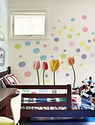 muraux fleurs de couleur pvc autocollants mur style autocollants mur autocollants
