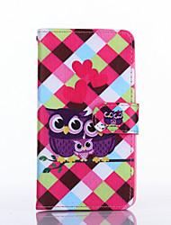 Pour Coque LG Porte Carte Portefeuille Avec Support Clapet Coque Coque Intégrale Coque Chouette Dur Cuir PU pour LGLG G3 LG G3 Beat / G3