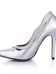 Women's Heels Spring Fall Comfort PU Wedding Party & Evening Dress Stiletto Heel Sliver
